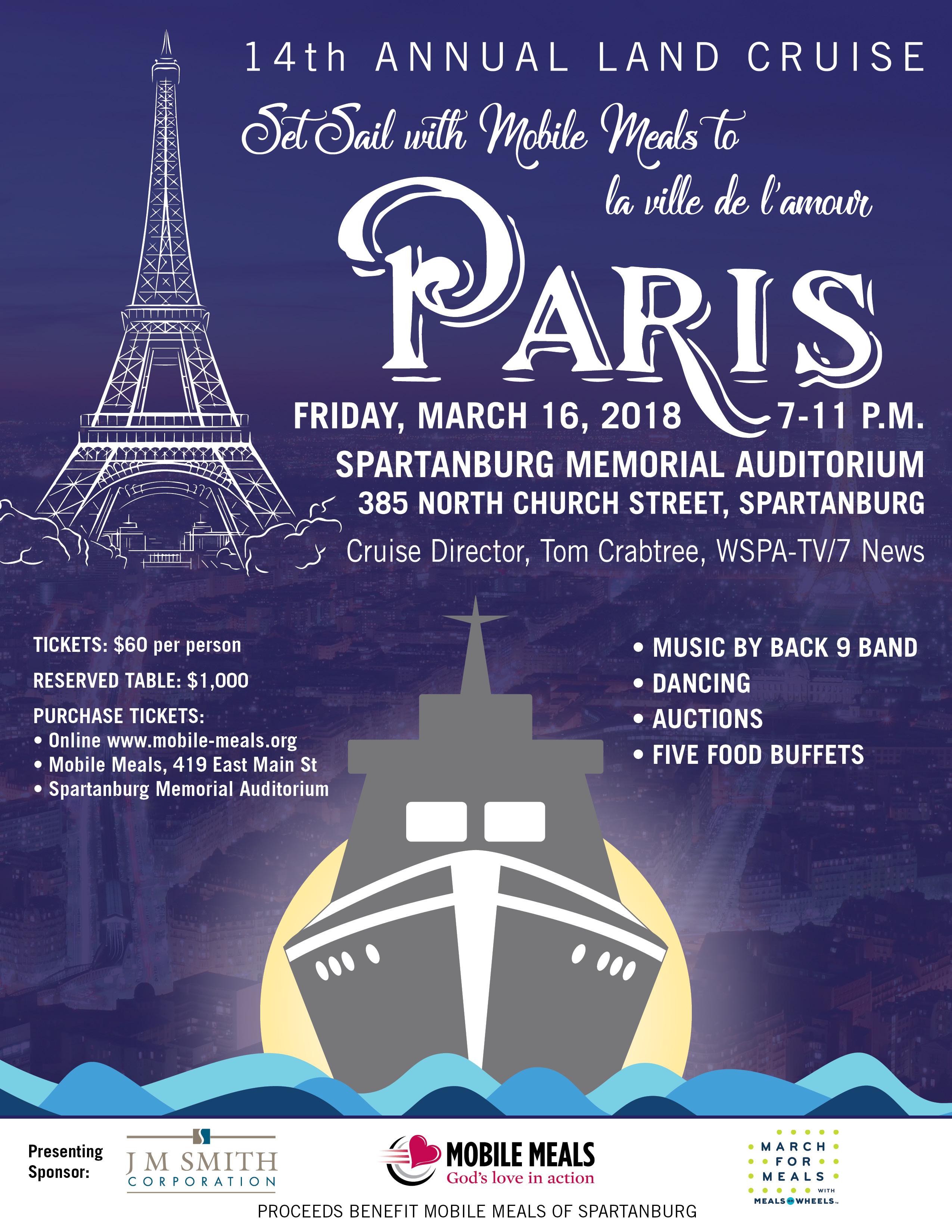 Set Sail to Paris!  14th Annual Land Cruise