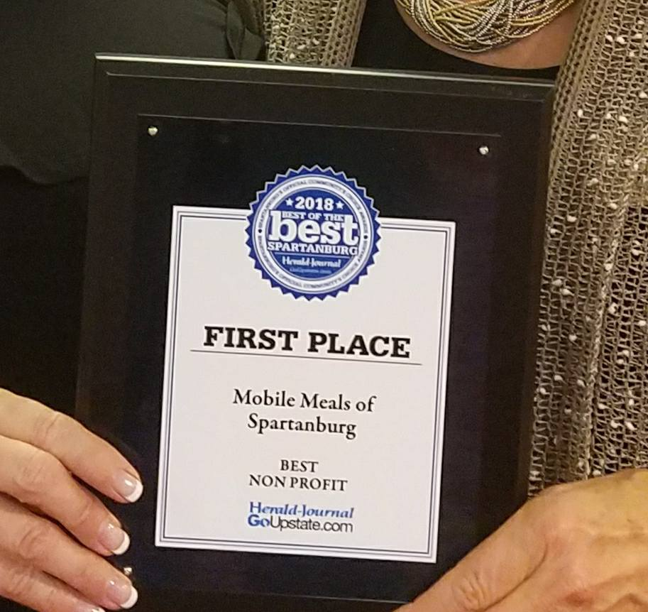 Mobile Meals Voted Best of the Best Upstate Non-Profit!
