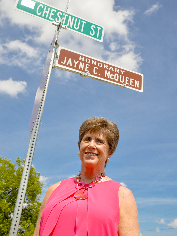 City Names Honorary Street for Jayne McQueen